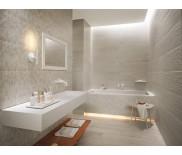 Воздушное оформление ванной комнаты