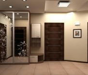 Какие обои нужны в коридор с темными дверями?
