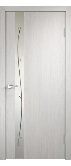 Дверь SMART Z1 зеркало Беленый дуб