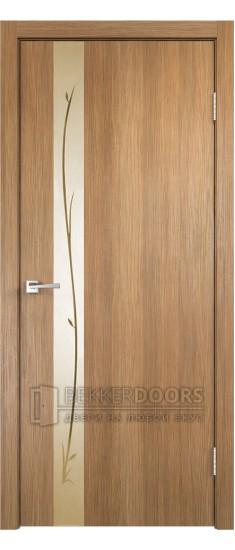 Дверь SMART Z1 зеркало Золотистый дуб