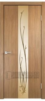 Дверь SMART Z2 зеркало Золотистый дуб