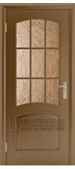 Дверь Капри 3 ПО Темный дуб