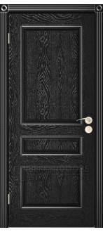 Дверь Трио ПГ Черная эмаль