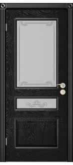 Дверь Трио ПО Черная эмаль