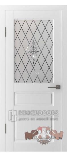 Дверь 15ДО0 Честер Эмаль белая
