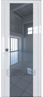 Дверь ПО 8L Белый Люкс Стекло Зеркальный триплекс
