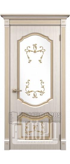 Дверь Версаль ДО Белое дерево+патина золото