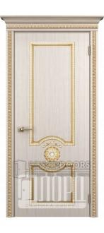 Дверь Гефест ДГ Белое дерево+патина золото