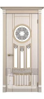 Дверь Зевс ДО Белое дерево+патина золото