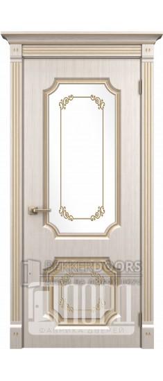 Дверь Сан-Марино  ДО Белое дерево+патина золото