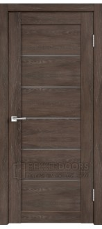 Дверь LINEA 1 Дуб Шале Корица