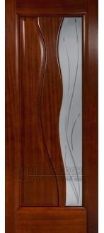 Дверь Иллюзион ПО Красное дерево