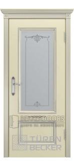 Дверь ВЕНЕЦИЯ В2 ПО патина серебро