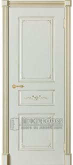 Дверь Парма ПГ Слоновая кость + патина золото