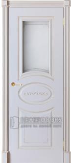 Дверь Севилия ПО Эмаль белая + патина 17