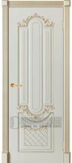 Дверь София ПГ Слоновая кость + патина золото