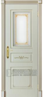 Дверь Парма ПО Слоновая кость + патина золото