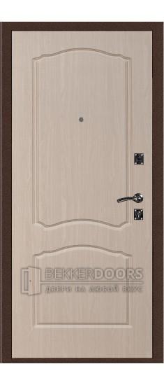 Дверь ДМ Стандарт Антик Медь/Классика Беленый дуб (Внутренняя)