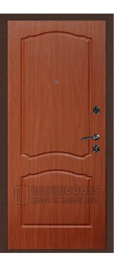 Дверь ДМ Стандарт Антик медь/Классика Итальянский орех (Внутренняя)