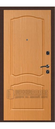 Дверь ДМ Стандарт Антик медь/Классика Миланский орех (Внутренняя)