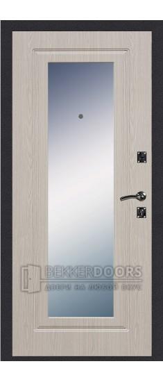Дверь ДМ Стандарт Ультра/Зеркало Беленый дуб (Внутренняя)