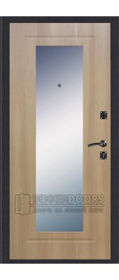 Дверь ДМ Стандарт Антик Серебро/Зеркало Дуб Золотистый (Внутренняя)