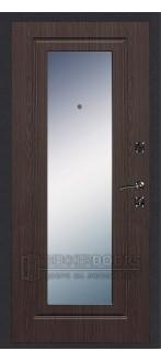 Дверь ДМ Стандарт Антик Серебро/Зеркало Венге (Внутренняя)