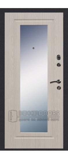 Дверь ДМ Колизей/Зеркало Беленый дуб (Внутренняя)