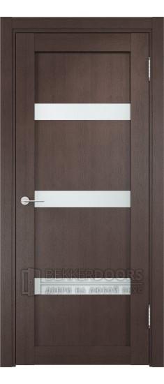 Дверь ПО Верона 04 Венге Стекло Сатинато Люкс
