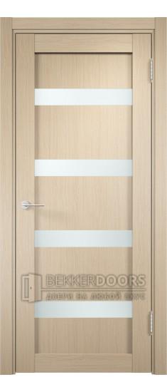 Дверь ПО Верона 05 Беленый дуб Стекло Сатинато Люкс