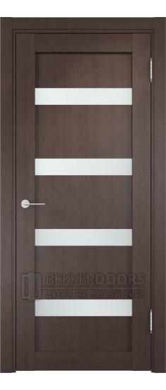Дверь ПО Верона 05 Венге Стекло Сатинато Люкс
