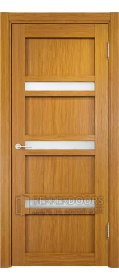 Дверь ПО Ливорно 05 Орех мелинга Стекло Сатинато Люкс