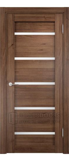 Дверь ПО Ливорно 06 Орех Стекло Сатинато Люкс