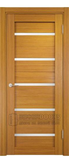 Дверь ПО Ливорно 06 Орех мелинга Стекло Сатинато Люкс