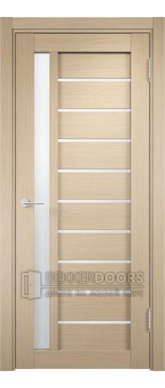 Дверь ПО Ливорно 08 Беленый дуб Стекло Сатинато Люкс