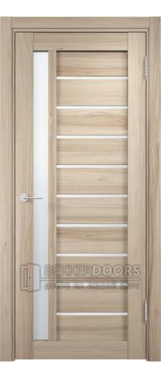 Дверь ПО Ливорно 08 Капучино Стекло Сатинато Люкс