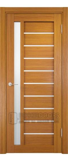 Дверь ПО Ливорно 08 Орех мелинга Стекло Сатинато Люкс