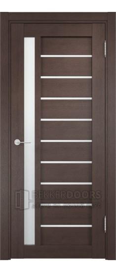 Дверь ПО Ливорно 08 Венге Стекло Сатинато Люкс