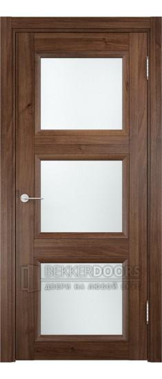 Дверь ПО Милан 10 Орех Стекло Сатинато Люкс