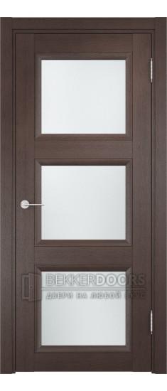 Дверь ПО Милан 10 Венге Стекло Сатинато Люкс
