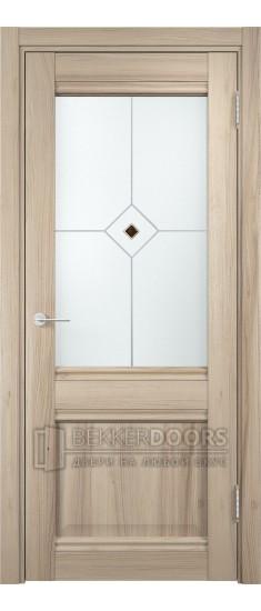 Дверь ПО Милан 12 Капучино Стекло Сатинато Люкс