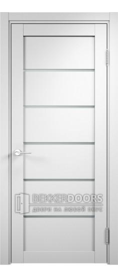 Дверь ПО Ницца 02 Белая Стекло Сатинато Люкс
