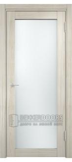 Дверь ПО Рома 02 Беленый дуб мелинга Стекло Сатинато Люкс