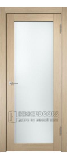 Дверь ПО Рома 02 Беленый дуб Стекло Сатинато Люкс