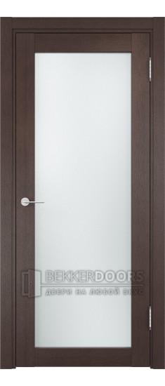 Дверь ПО Рома 02 Венге Стекло Сатинато Люкс
