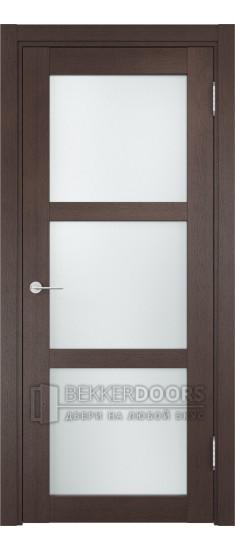 Дверь ПО Рома 08 Венге Стекло Сатинато Люкс