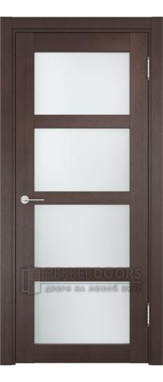 Дверь ПО Рома 11 Венге Стекло Сатинато Люкс