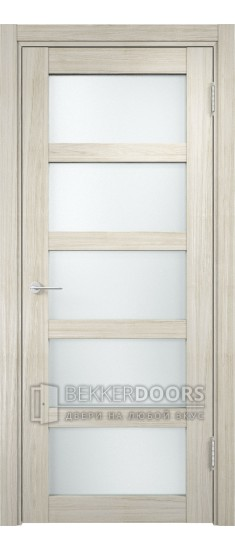 Дверь ПО Рома 14 Беленый дуб мелинга Стекло Сатинато Люкс