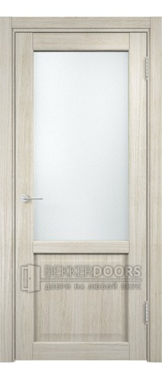 Дверь ПО Рома 24 Беленый дуб мелинга Стекло Сатинато Люкс
