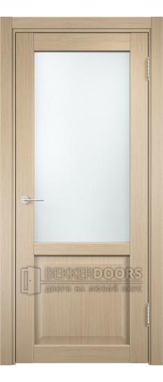 Дверь ПО Рома 24 Беленый дуб Стекло Сатинато Люкс